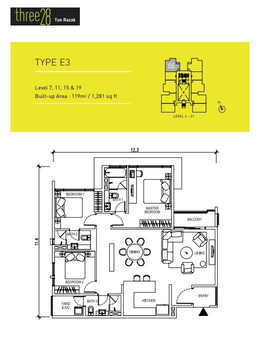 Floorplan - 1281 sqft